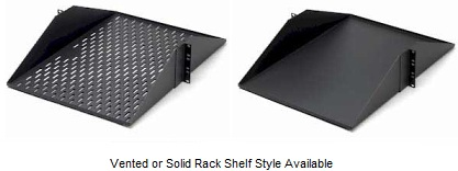 vented rack shelf