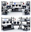 lan IT workstation benches