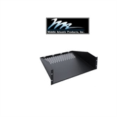 "Picture of 3U x 17.75"" Deep Vented Rack Shelf for 19 inch Rackmount Enclosures"