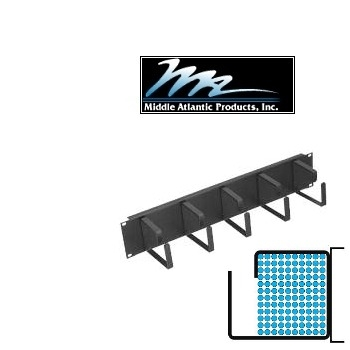 Picture of Middle Atlantic HCM-2D23 2U D-Ring Style Horizontal Cable Manager
