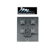 Picture of Middle Atlantic MW-4QFT-FC Integrated Fan Top w/ 4 Quiet Fans