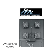 Picture of Middle Atlantic MW-4FT-660CFM Integrated Fan Top w/ 3 Fans
